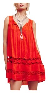 Free People short dress Orange Boho Bohemian Festival Summer on Tradesy