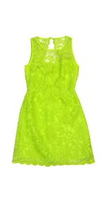 Laundry by Shelli Segal short dress Neon Green Lace Overlay on Tradesy
