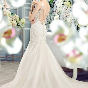 Moonlight Bridal Ivory Lace Taupe Lining Tulle Skirt Lace Tulle