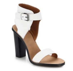 Vince Women's Leather Open Toe White Sandals