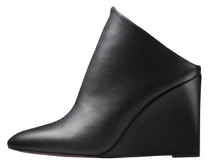 Vince Women's Leather Wedges Black Mules