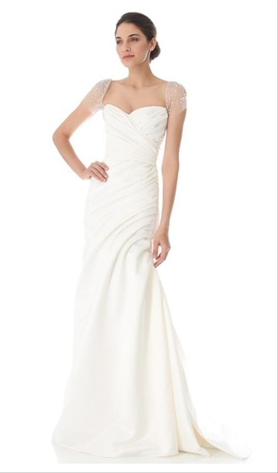 Reem Acra Ivory Silk Satin Always & Forever Wedding Dress Size 2 (XS ...
