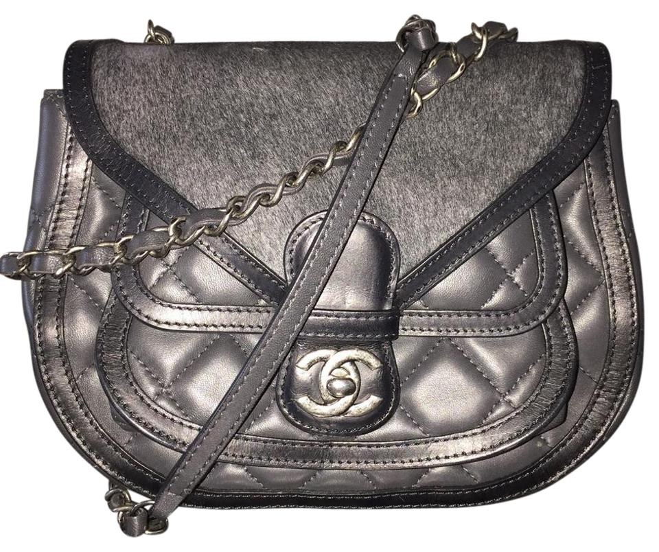 e4698576c099 Chanel Messenger Pony Hair Quilted Small Biker Saddle Calfskin ...