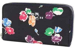 Coach Small Double Zipper Wallet Wildflower