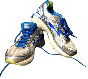 Brooks Silver, Blue, White Athletic