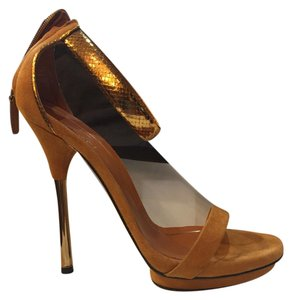 Gucci Stiletto Formal Leather brown Sandals