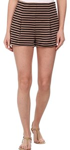 Free People Mini/Short Shorts Taupe and black