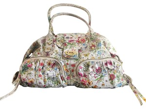 Big Buddha Satchel in White with Floral Print