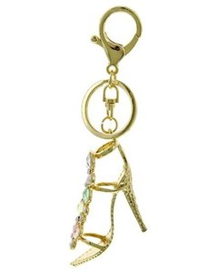 Other Multi Color Clear Rhinestone High-heeled Shoe Key Chain