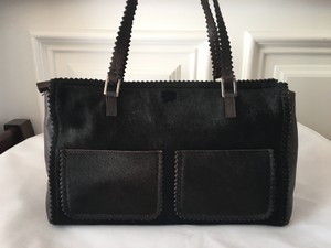 Anya Hindmarch New Designer Leather Pony Fur Shoulder Bag