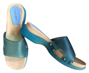 Candie's Vintage Boho Festival Made In Italy Resort Blue Sandals