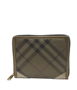 Burberry Burberry Tan & Gold Coated Canvas iPad Case (119751)