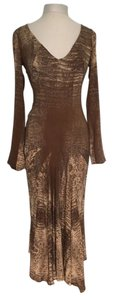 brown Maxi Dress by Roberto Cavalli