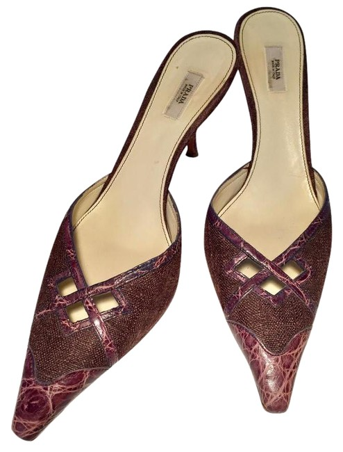Item - Violet and Purple/Taupe 3769 Mules/Slides Size US 8.5 Narrow (Aa, N)