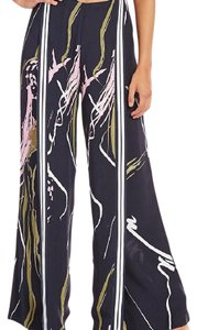 C/meo Collective Wide Leg Pants Black scarf print