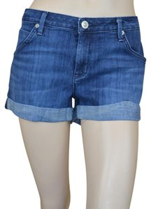 Hudson Denim Cotton Cuffed Shorts Blue