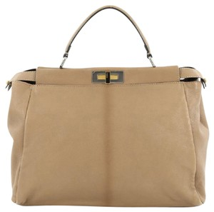 Fendi Leather Satchel in light brown
