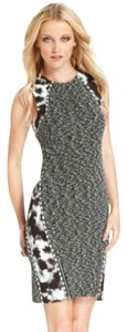 Rachel Roy Sleeveless Print Tie Dye Tweed Sheath Dress