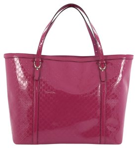 Gucci Leather Tote in Fuchsia