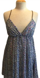 Ocean Drive Clothing short dress blue pink floral on Tradesy