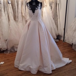 Mori Lee Lt Gold 5501 Formal Wedding Dress Size 6 (S)