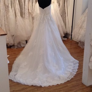 Mori Lee Ivory Lace 5406 Formal Wedding Dress Size 14 (L)
