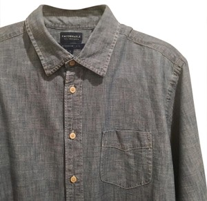 Façonnable Button Down Shirt Denim / Blue