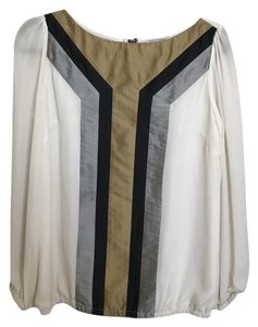 bySMITH Top white, sliver, black and gold