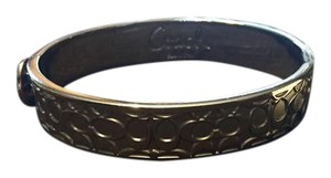 Coach Coach Silver Signature Bangle