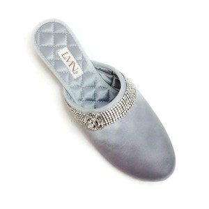 luxe me now silver Flats