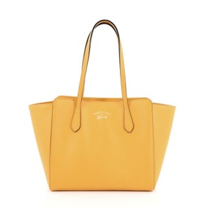 e397499f12d1d9 Gucci Leather Tote in Yellow