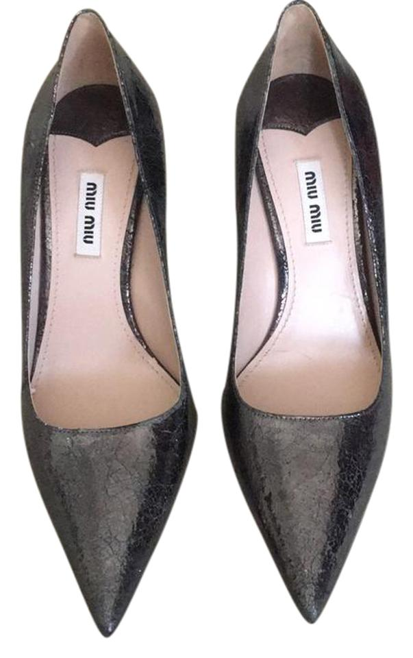 Dark Anthracite Miu Pumps Donna Miu Grey Calzature ZFxExUq7