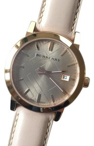 Burberry Burberry nude leather strap watch
