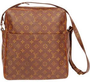 Louis Vuitton Monogram Canvas Cross Body Vintage Tote in Brown