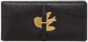 Marc by Marc Jacobs Nwt $178 Bifold Leather Bird Petal To The Metal Black Gold Wallet