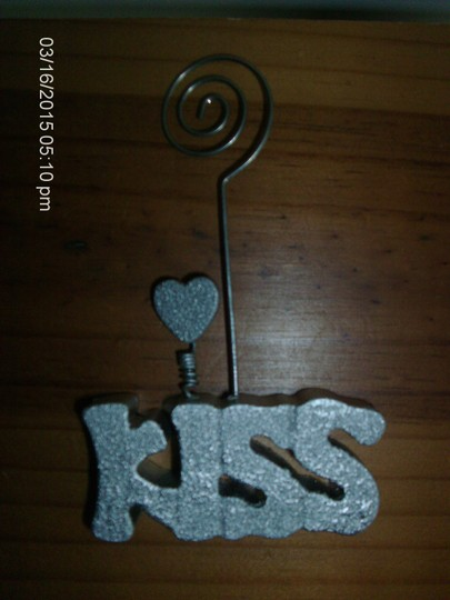 Silver Kiss Table Number Holders (6 Count) Reception Decoration