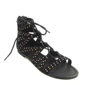 Guess Gladiator Gladiator Zipper Black Sandals