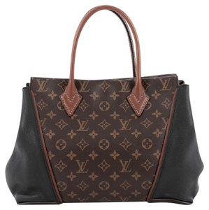 Louis Vuitton Canvas Tote in Brown and Black
