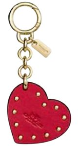 Coach Coach Boxed Studded Heart Bag Charm or Key Ring