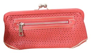 Fossil Leather Cutout red Clutch