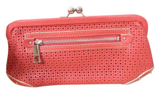 Item - Red Leather Clutch