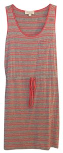Olive + Oak short dress coral and grey striped on Tradesy