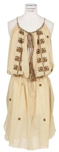Isabel Marant short dress CREAM Embroidered Tassels Vacation Bohemian on Tradesy