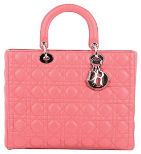 Dior Christian Leather Satchel in Pink