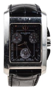 Baume & Mercier Baume Mercier Black Alligator Leather Stainless Steel
