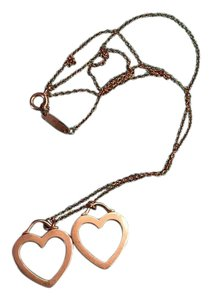 Tiffany & Co. SALE Retired Tiffany & Co. Double Open Hearts Necklace in Rose Gold