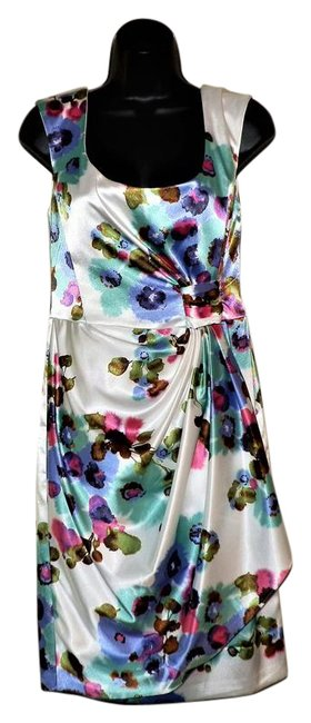 Maggy London Flower Sleeveless Stretchy Lined Dress