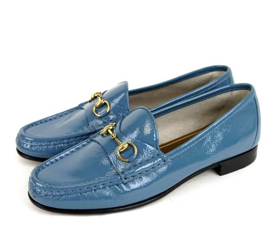 Gucci Blue Horsebit 1953 Soft Patent Leather Loafer It 38/ Us 8 338348 Shoes Image 1