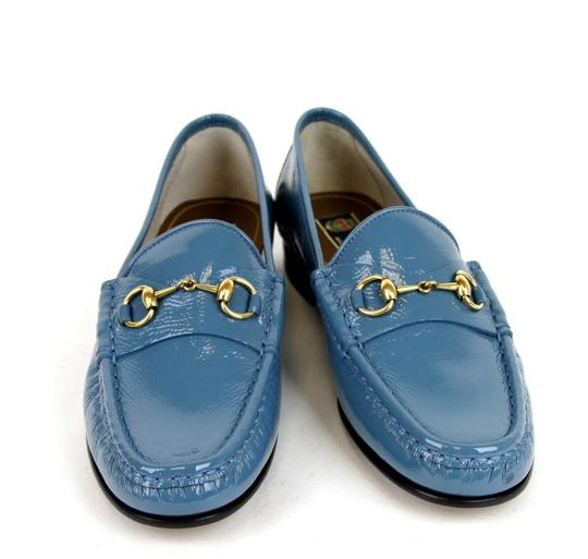 Gucci Blue Horsebit 1953 Soft Patent Leather Loafer It 38/ Us 8 338348 Shoes Image 2