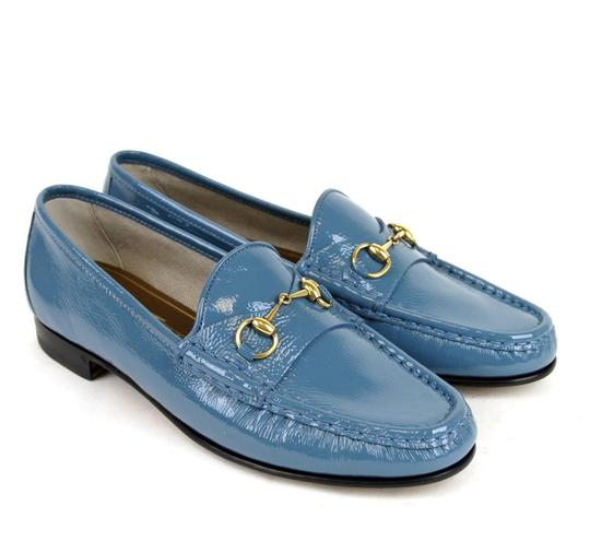 Gucci Blue Horsebit 1953 Soft Patent Leather Loafer It 38/ Us 8 338348 Shoes Image 3